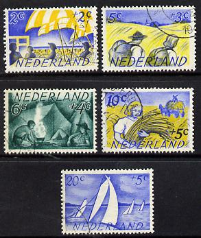 Netherlands 1949 Scouts Cultural Fund set of 5 fine cds used SG 679-83*