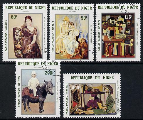 Niger Republic 1981 Birth Centenary of Picasso set of 5 cto used, SG 854-58*