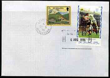 Great Britain 1996 Postal Strike cover to St Helena bearing St Martin (Great Britain local) opt