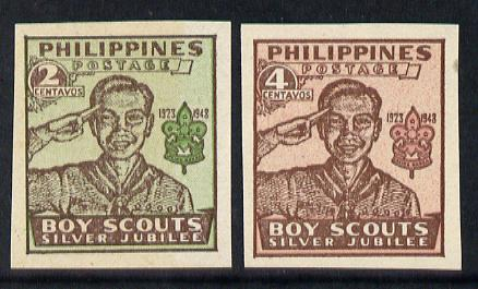 Philippines 1949 Scouts imperf set of 2 unmounted mint as SG 665-66*