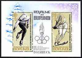 Burundi 1964 Innsbruck Winter Olympic Games perf m/sheet unmounted mint, SG MS 76a, Mi BL 3A