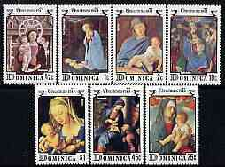 Dominica 1975 Christmas (Virgin & Child Paintings) perf set of 7 unmounted mint, SG 482-88