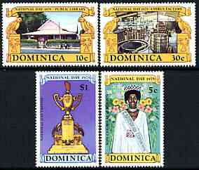 Dominica 1975-78 National Day perf set of 4 unmounted mint, SG 477-80