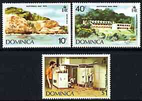 Dominica 1974 National Day perf set of 3 unmounted mint, SG 430-32