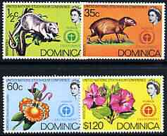 Dominica 1972 UN Conference on the Human Environment perf set of 4 unmounted mint, SG 352-55