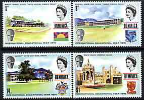 Dominica 1971 International Education Year perf set of 4 unmounted mint, SG 322-25, stamps on education, stamps on universities