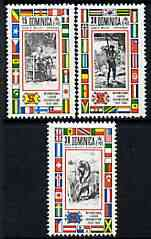 Dominica 1969 International Labour Organisation perf set of 3 unmounted mint, SG 262-64