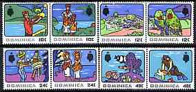 Dominica 1969 Tourism perf set of 8 unmounted mint, SG 250-57