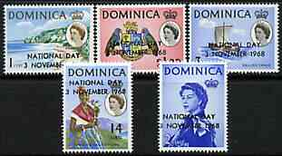 Dominica 1968 National Day perf set of 5 unmounted mint, SG 232-36