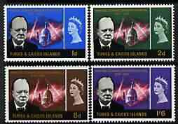 Turks & Caicos Islands 1966 Churchill Commemoration perf set of 4 unmounted mint, SG 262-65