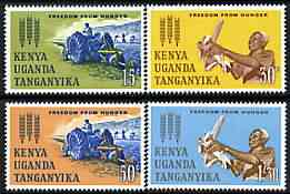 Kenya, Uganda & Tanganyika 1963 Freedom From Hunger perf set of 4 unmounted mint, SG 205-6, stamps on , stamps on  stamps on ffh, stamps on  stamps on food, stamps on  stamps on  ffh , stamps on  stamps on