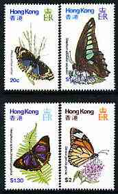 Hong Kong 1979 Butterflies perf set of 4 unmounted mint, SG 380-83