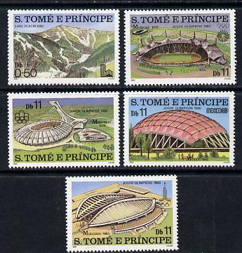 St Thomas & Prince Islands 1980 Olympic Games set of 5 (Stadia) unmounted mint