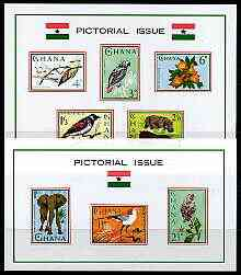 Ghana 1964 Pictorial Issue set of 2 imperf m/sheets (Flora & Fauna) unmounted mint, SG MS 364a