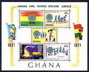 Ghana 1971 Girl Guides Golden Jubilee imperf m/sheet unmounted mint, SG MS 611