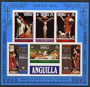 Anguilla 1975 Easter perf m/sheet containing set of 6 unmounted mint, SG MS208