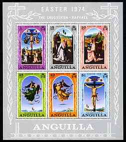 Anguilla 1974 Easter perf m/sheet containing set of 6 unmounted mint, SG MS180