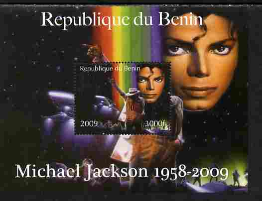 Benin 2009 Michael Jackson perf m/sheet unmounted mint. Note this item is privately produced and is offered purely on its thematic appeal