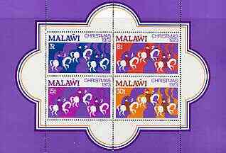 Malawi 1973 Christmas perf m/sheet containing set of 4 unmounted mint, SG MS449