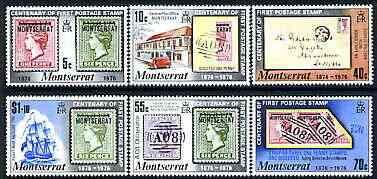 Montserrat 1976 Stamp Centenary perf set of 6 unmounted mint, SG 356-61