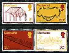 Montserrat 1975 Carib Artefacts perf set of 4 unmounted mint, SG343-46