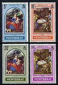 Montserrat 1970 Christmas (Paintings) perf set of 4 unmounted mint, SG 255-58