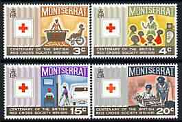 Montserrat 1970 Red Cross Centenary perf set of 4 unmounted mint, SG 238-41