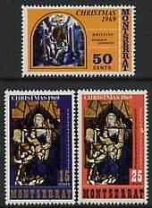 Montserrat 1969 Christmas (Paintings) perf set of 3 unmounted mint, SG 235-37