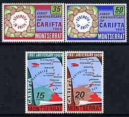 Montserrat 1969 CARIFTA perf set of 4 unmounted mint, SG 223-26