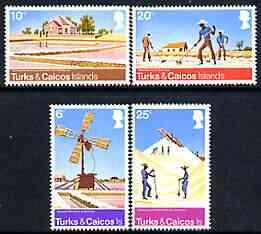 Turks & Caicos Islands 1975 Salt Raking Industry perf set of 4 unmounted mint, SG 438-41