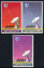 Jamaica 1972 Opening of Earth Satellite Station perf set of 3 unmounted mint, SG 341-43