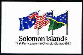 Booklet - Solomon Islands 1984 Los Angeles Olympic Games $3.95 booklet complete and pristine, SG SB7