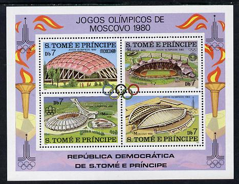 St Thomas & Prince Islands 1980 Olympic Games m/sheet unmounted mint (Stadium)