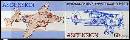 Booklet - Ascension 1982 Wideawake Airfield (World War II Aircraft) 60p booklet complete (brown inscription stapled ar left) very fine, SG SB4