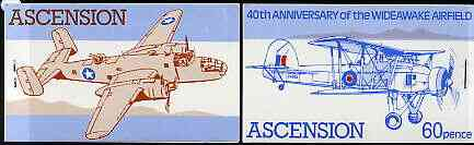 Booklet - Ascension 1982 Wideawake Airfield (World War II Aircraft) 60p booklet complete (blue inscription stapled ar right) very fine, SG SB4a