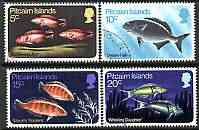 Pitcairn Islands 1970 Fish perf set of 4 very fine cds used, SG 111-14*