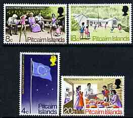 Pitcairn Islands 1972 South Pacific Commission set of 4 very fine cds used, SG 120-23*