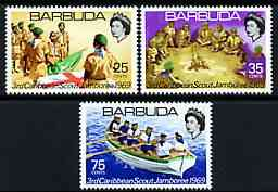 Barbuda 1969 Caribbean Scout Jamboree perf set of 3 unmounted mint, SG 35-37*