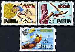 Barbuda 1968 Mexico Olympic Games perf set of 3 unmounted mint, SG 28-30*