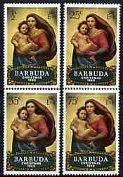 Barbuda 1969 Christmas (Paintings) perf set of 4 unmounted mint, SG 38-41*