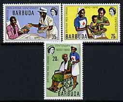Barbuda 1970 Centenary of British Red Cross perf set of 3 unmounted mint, SG 88-90