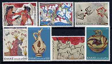Greece 1973 Archaeological Discoveries - Island of Thera perf set of 7 unmounted mint, SG 1225-31