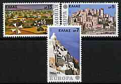 Greece 1977 Europa perf set of 3 unmounted mint, SG 1365-67