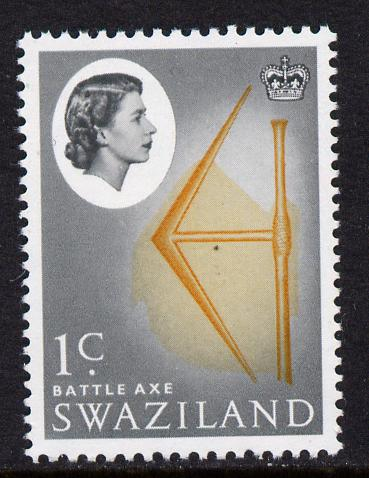 Swaziland 1962 Battle Axe (1c def ) with inverted watermark unmounted mint, SG 91w*