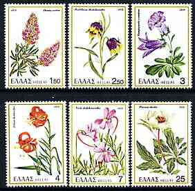 Greece 1978 Greek Flora perf set of 6 unmounted mint, SG 1404-09