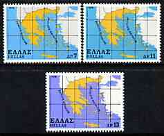 Greece 1978 The Greek State perf set of 3 unmounted mint, SG 1447-49