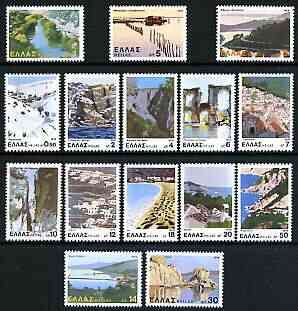Greece 1979 Landscapes perf set of 15 unmounted mint, SG 1490-1504