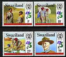 Swaziland 1982 75th Anniversary of Scouting perf set of 4 unmounted mint, SG 416-19