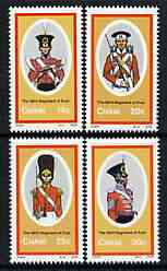 Ciskei 1986 British Military Uniforms #3 perf set of 4 unmounted mint, SG 95-98*
