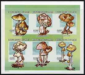 Mali 2000 Fungi imperf sheetlet containing set of 6 unmounted mint, Mi 2546-51